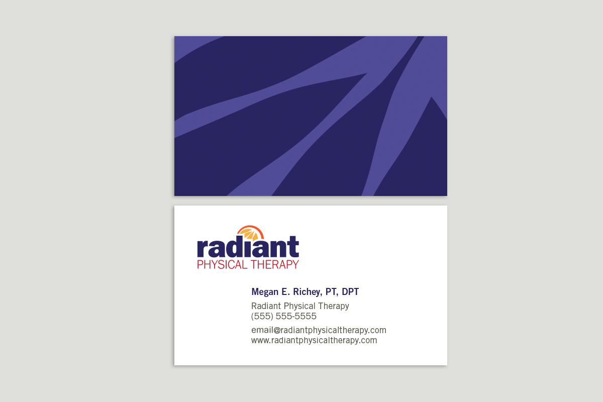 Radiant Physical Therapy business cards